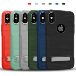 $enCountryForm.capitalKeyWord NZ - Armor Drawing Case with Stand Defender Hybrid PC TPU Non-slip Phone Case Cover for iPhone X 8 7 6 6s Plus DHL free shipping SCA352
