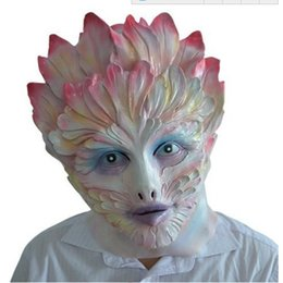 Costume De Elfes Sexy Pas Cher-Flower Elf Latex Mask Full Face Halloween Sexy Women Girl Masques en caoutchouc Masquerade Party Costume Cosplay Simulation Props Adultes