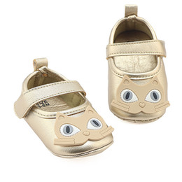 Girls Sandal Canada - Cat Baby Soft Sole PU Leather Moccasins Walker Shoes Newborn Baby Shoes First Walkers Shoes Summer Girls Sandals