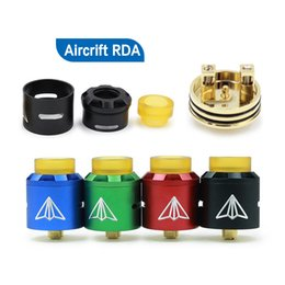 adjustable bore drip tip UK - Aluminum Aircrift RDA Atomizer Dual coil system Adjustable Airflow With Wide Bore Drip Tip 4 Colors Fit 510 E Cigarette