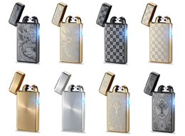 Usb electric lighters online shopping - 2017 New USB Rechargeable Electric LIGHTER Double ARC PULSE Flameless Plasma Torch