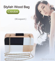 $enCountryForm.capitalKeyWord Canada - Brand designer handbag perfume acrylic evening bags patchwork wood clutch box brick vintage chain messenger for party - L5119