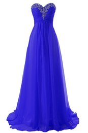 $enCountryForm.capitalKeyWord Canada - 2019 Royal Blue Prom Dresses Sweetheart neck Floor length Beaded Formal Evening Gowns Chiffon Robe de Soiree