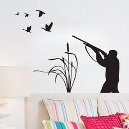 Hunting Decals Stickers NZ - Bird Hunting Wall Decals Vinyl Creative Sticker Home Decor Living Room Wall Decorative Hobbies Hunter Wall Stickers Adhesive