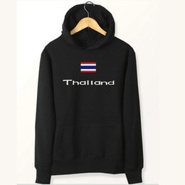 Thailand Shirts Australia - Thailand flag hoodies Country banner go shop sweat shirts Fleece clothing Pullover coat Outdoor cotton jacket Brushed sweatshirts