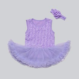 $enCountryForm.capitalKeyWord Canada - Summer Baby Girl Flower Dress Baby Rompers with Flower Headband Girls tutu Dress Baby Girls One-piece Jumpsuit Girls Princess Party Dresses