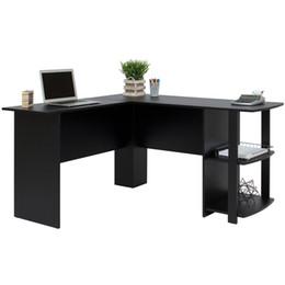Опт Лучший Выбор Продуктов L-Образный Угловой Компьютер Офисная Мебель-Черный