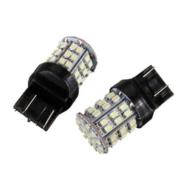 FEELDO 2 STÜCKE Weiß 12 V T20 7443 64SMD 1206LED Auto Auto Schalten / Bremssignal Schwanz LED Glühbirne # 1590 im Angebot