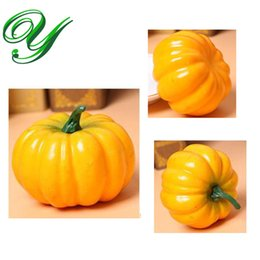 artificial vegetables home decor Australia - Artificial fruit and vegetables decor plastic foam Pumpkins Halloween decoration Christmas Fall Harvest home garden table ceterpieces supply