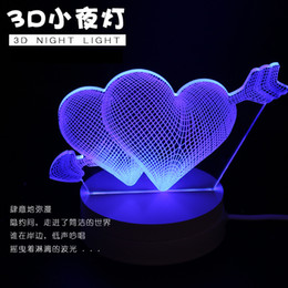 $enCountryForm.capitalKeyWord Canada - Strange new creative 3 d small night light LED desk lamp USB light valentine's day romantic birthday present 3 d stereo vision