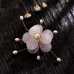 $enCountryForm.capitalKeyWord Canada - pink jade freshwater pearl brooch flower blossom shape traditional Chinese style handmade brooch pins for lady dress