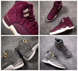 $enCountryForm.capitalKeyWord NZ - 12 XII Bordeaux Men Basketball Shoes 12s Wine Red Purple Midnight Dark Cool Grey Suede Sports Trainers Sneakers Basket ball Shoe Size 8-13