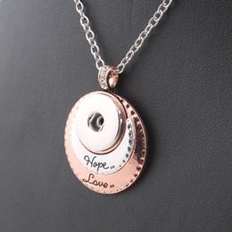 HopeLove encantos colar do vintage das mulheres 18mm snap botão colar com ligação cadeia mulher jóias DIY ZG054 venda por atacado