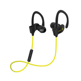 bluetooth earphones wire Canada - Sports Headset Wireless Ear Hook Type Earphone Bluetooth Stereo Wire Control Headphone With MIC for iPhone XiaoMi Samsung Phones