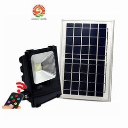 Projecteurs solaires extérieurs à LED 100W 50W 30W 70-85LM lampes étanches IP65 éclairage panneau de batterie de projecteur puissance à distance Contorller Chine