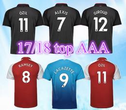 865d13c0b Best thailand aaa Season 2017 2018 soccer jerseys ALEXIS sanchez OZIL XHAKA  GIROUD RAMSEY football shirt 17 18 LACAZETTE soccer shirt camisa