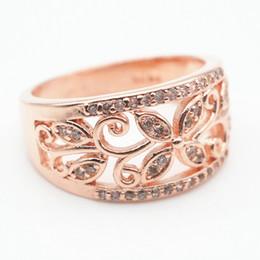 $enCountryForm.capitalKeyWord Australia - Female Girls Geometric Ring 925 Sterling Silver Filled & Rose Gold Ring Promise Wedding Engagement Rings For Women Best Gifts