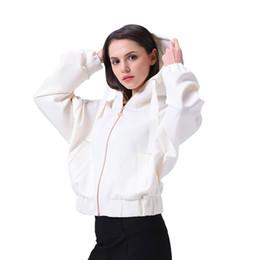 Exo jackEt online shopping - women cropped Jacket zipper sweat exo Streetwear oversize white Sweat Spring