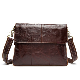$enCountryForm.capitalKeyWord Australia - retro leather cover bag 8007 Top layer cow leather one shoulder leasure bag 4 color OEM available