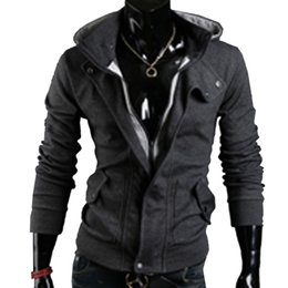 Chinese  Shelikeit HOT SALE Mens Hoodies Casual Mens Assassins Creed Jacket Special Zipper Sweatshirt Thicken Men Tracksuits M-XXL 38EW manufacturers