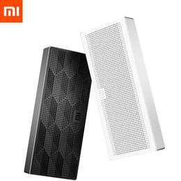 Discount xiaomi mini square box bluetooth speaker Wholesale- Original Xiaomi Mi Wireless Bluetooth Speaker Portable Mini Square Box Stereo HiFi Subwoofer Loud speaker For