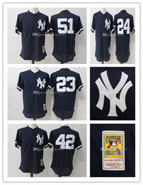 f83929a9523 Blue 1995 Mesh Throwback Batting Practice Jersey New York Yankees Baseball Jerseys  Mariano .