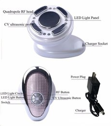 Skin Lipstick Canada - DHL use mini cavitation rf radio frequency slimming machine for cellulite removal skin tightening+ 1pc metal anal plug +1pc orgasm lipstick