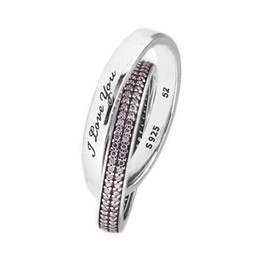 4848a807723d Anillos compatibles con Pandora Jewelry Sweet Promise Anillo de plata para  mujer original 100% 925 Sterling Silver jewelry Anillo al por mayor