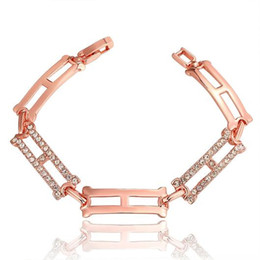 Bezel Rectangle Canada - Trendy Rectangle Bracelet Trendy Style Jewelry