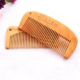 Discount smoothing curly hair - Boutique selling goods anti-static practical portable wooden hair comb smooth natural hair accessories wholesale stalls