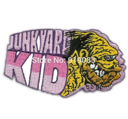 "biker badges patches UK - 3.5"" BIG DADDY ROTH RAT FINK JUNK YARD KID HOT ROD Biker Vest Patch MC Embroidered punk rockabilly applique iron on badge"