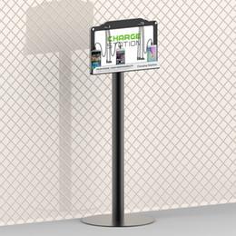 Großhandel Kundengerechte Boden-Standplatz-Handy-Ladestation mit LED-Hintergrundbeleuchtung Werbetreibender Multi-Gerät, das für 8 Geräte auflädt, schließt iPhone, iPad mit ein