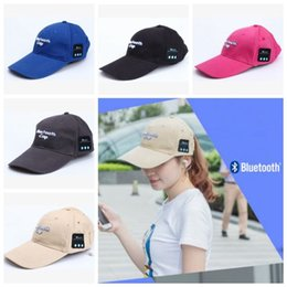 bluetooth ball cap 2019 - 5 Colors Fashion Mesh Ball Cap Summer Unisex Hat Bluetooth Smart Cap Wireless Headset Headphone Speaker Basketball Ball