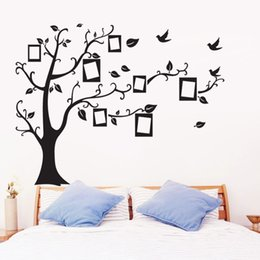Shape photo frameS online shopping - Wall Stickers Photo Frame Tree Shape Sticker Used For A Living Room Bedroom Wallpaper DIY Removable Decor Decal gl A