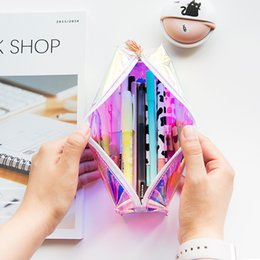 $enCountryForm.capitalKeyWord Canada - PU Laser Reflective Pencils Bags Cute Simulation cylinder Case Large Capacity School Supplies Stationery Hot Cool Pen Box 6 6qh J R