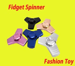 Aluminum Alloy Fingertip Gyro Metal HandSpinner Hand Spinner Finger EDC Toy For Decompression Anxiety Metal EDC Desk Toy from battle gyro suppliers