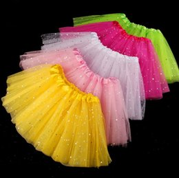 Jupes 6t Pas Cher-Fille TUTU Jupe Enfants Star Dancing Jupes Princess Dance Jupes Robe de danse Colorful Tutu Jupe Fille Robe de soirée 150pcs OOA3023