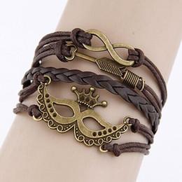 $enCountryForm.capitalKeyWord Australia - Fashion trend metal love 8 word pirate wild hand leather multi - layer temperament bracelet jewelry wholesale