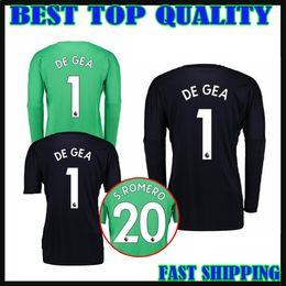 1e77e52a9f2 ... germany 17 18 man utd long sleeve goalkeeper soccer jersey 2017 2018 de  gea goalkeeper football