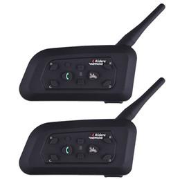 Chinese  Wholesale- Fodsport 2pcs lot V6 Pro Motorcycle Helmet Bluetooth Headset Intercom 6 Riders 1200M Wireless Intercomunicador BT Interphone manufacturers