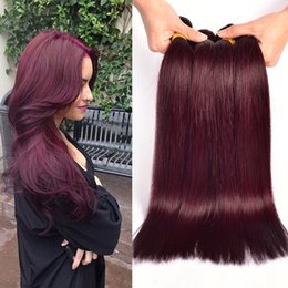 $enCountryForm.capitalKeyWord Canada - Top Quality Malaysian Burgundy Human Hair Wefts #99J Wine Red 4Bundles Silky Straight Virgin Remy Human Hair Weaves Extensions DHL Free