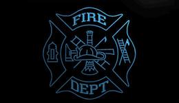 Motion fire online shopping - LS1528 b Fire Dept Helmet AXE Ladder Neon Light Sign jpg