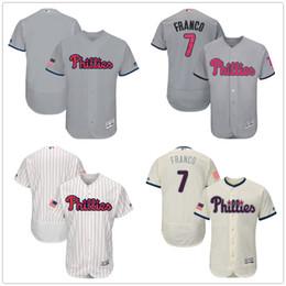 0ba0d998e Flexbase Authentic Stitched MLB Jersey Mens Philadelphia Phillies Baseball  Jerseys 7 Maikel Franco ...