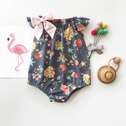 $enCountryForm.capitalKeyWord Australia - INS Baby Bee Romper Sets Babiess Girls Rompers Floral jumpsuit Princess Onesies Todder Summer Christmas Pajamas Boutique Diaper suit Clothe