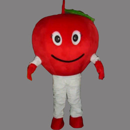 Barato Adultos Fruto Trajes Halloween-Cute Fruit Apple Adulto Tamanho Mascot Costume Fancy Birthday Party Dress Halloween Carnavais Trajes Com Alta Qualidade