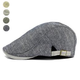 Adjustable Beret Caps Spring Summer Outdoor Sun Breathable Bone Brim Hats  Womens Mens Herringbone Solid Flat Berets Cap Hat 1c0bb6b91f3