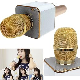 Chinese  Q7 PK K068 K088 Handheld Microphone Bluetooth Wireless KTV With Speaker Mic Microfono Handheld For iphone Smartphone Karaoke DHL Free OTH329 manufacturers