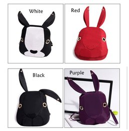 Cute Ladies Backpack Canada - New Fashion Cute Rabbit Women Nylon Backpacks Cartoon School Bags Backpacks For Teenage Girls Fashion Casual Lady Bag