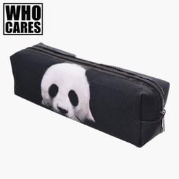 Bag Prints NZ - Wholesale- Panda 3D printing cosmetic bag pencil trousse de maquillage 2017 Fashion New pouch toiletry bag organizer necessaire women bags