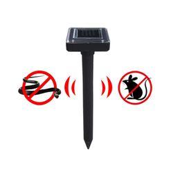Solar Snake repeller online shopping - Solar Power Ultrasonic Gopher Mole Snake Mouse Pest Repeller Control for Garden With LED Lawn Light